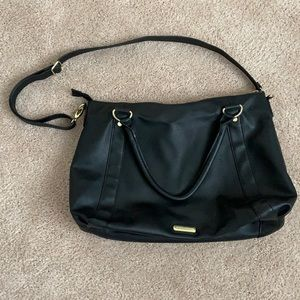 Black w/ gold hardware Steve Madden purse